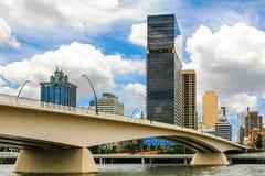 Victoria Bridge Brisbane flod Fotografering för Bildbyråer