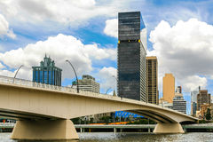 Victoria Bridge, Brisbane-Fluss Stockbild