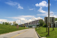 Victoria Bridge Montreal Royalty-vrije Stock Afbeeldingen