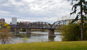 Victoria Bridge over the South Saskatchewan River Stock Images