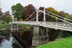 Victoria Bridge sobre la horqueta del río, Hereford, Herefordshire, inglés Imagen de archivo
