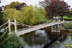 Victoria Bridge sobre la horqueta del río, Hereford, Herefordshire, inglés Foto de archivo libre de regalías