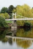 Victoria Bridge sobre la horqueta del río, Hereford, Herefordshire, Inglaterra Fotos de archivo