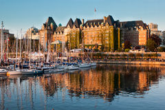 Victoria, British Columbia, Canada At Sunset Stock Image