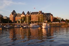 Victoria, British Columbia, Inner Harbour at sunset Royalty Free Stock Photography