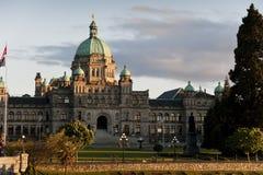 Victoria British Columbia parlamentbyggnad. Arkivfoto