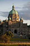 Victoria, British Columbia Parliament Building. The historic Victoria, BC government building seen at sunset in the inner harbor of this beautiful city Royalty Free Stock Photography