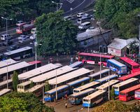 Victoria-busterminal in Port-Louis Mauritius Stock Foto's