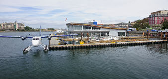 VICTORIA, CANADA - AUGUST 28, 2016: Victoria Harbour Airport on Stock Images