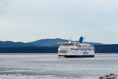 Victoria - Canada, Circa 2017: BC Ferries vessel approaching doc Stock Photos