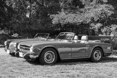 Classic Bristish Cars Stock Image