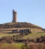 Victoria Castle, Schloss-Hügel Huddersfield, Yorkshire, England Lizenzfreie Stockfotos