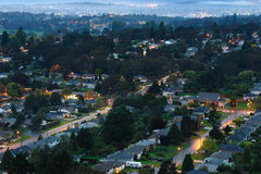 Victoria city at night Stock Photography