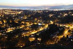 Victoria city at night Stock Photos