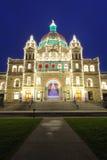 Victoria city night scene royalty free stock photo