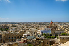 Victoria city with Saint George Basilica view from the citadel - Victoria, Gozo, Malta Stock Photos