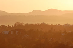 Victoria city at sunset Royalty Free Stock Images