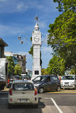 Victoria Clock Tower Mahe, Seychellerna, ledare Arkivfoto