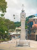 Victoria Clock Tower in Victoria, Seychelles Fotografia Stock