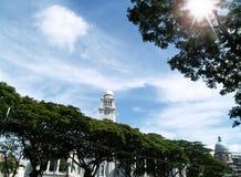 Victoria clock tower, singapore Stock Photos