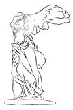 Victoria coa alas de Samothrace Imágenes de archivo libres de regalías