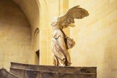 Victoria coa alas de Samothrace Imagen de archivo libre de regalías