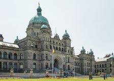 VICTORIA, COLUMBIA BRITANNICA, CANADA - 19 MAGGIO: Il Parlamento canadese Immagine Stock Libera da Diritti