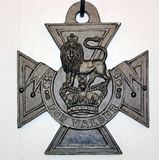 Victoria Cross on display at Dover Castle Museum, England. This decoration for gallantry is bestowed by the Queen of England to individual British soldiers for Royalty Free Stock Photography