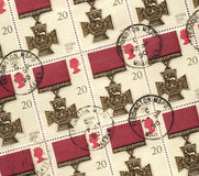 Victoria Cross Medal - Postage Stamps. Victoria Cross Medal on a set of British Postage Stamps Stock Image