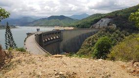 Victoria Dam au Sri Lanka Images stock