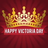 Victoria Day Couronne d'or et une inscription de félicitations Illustration de vecteur Photographie stock