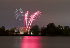 Victoria Day Fireworks Royalty Free Stock Images