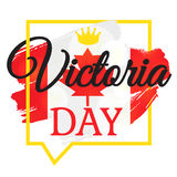 Victoria Day Sticker heureuse Photo stock