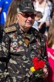 Victoria del desfile en Kiev, Ucrania Imagen de archivo libre de regalías