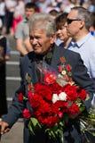 Victoria del desfile en Kiev, Ucrania Imagenes de archivo