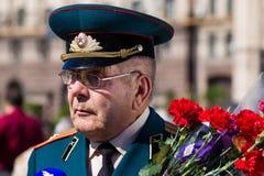 Victoria del desfile en Kiev, Ucrania Fotografía de archivo