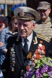 Victoria del desfile en Kiev, Ucrania Foto de archivo