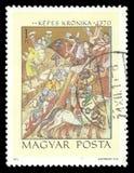 Victoria del ` s de Basarab sobre rey Karoly Robert fotos de archivo