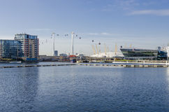 Victoria Dock London royaltyfri bild