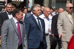 Victoria el 9 de mayo de 2013 Kiev, Ucrania del desfile Imagen de archivo