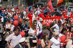 Victoria el 9 de mayo de 2013 Kiev, Ucrania del desfile Imágenes de archivo libres de regalías