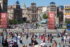 Victoria el 9 de mayo de 2013 Kiev, Ucrania del desfile Fotos de archivo