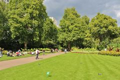 Victoria Embankment Gardens Royalty Free Stock Photography