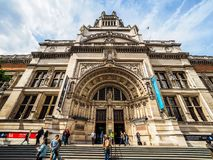 Victoria en Albert Museum in Londen, hdr stock afbeeldingen