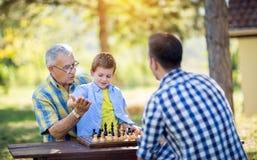 Victoria en juego de ajedrez fotografía de archivo libre de regalías