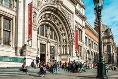 Victoria et Albert Museum à Londres, R-U Photos libres de droits
