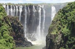 Victoria Falls - Ζάμπια/Ζιμπάμπουε Στοκ Εικόνες