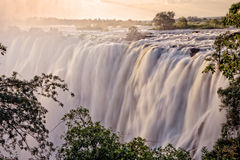 Victoria Falls, Ζάμπια Στοκ Φωτογραφία