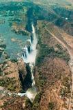 Victoria Falls σε Zimbabe στην ξηρασία στοκ φωτογραφίες με δικαίωμα ελεύθερης χρήσης