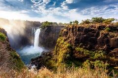 Victoria Falls с драматическим небом Стоковое фото RF